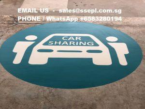 car sharing logo painting singapore