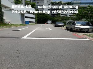 road markings Singapore