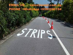 singapore road markings